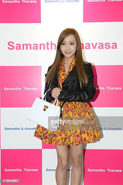 Japanese star Tomomi Itano attends commercial activity on Monday March 172014 in Hong KongChina