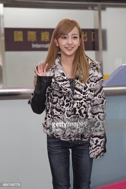 Japanese star Tomomi Itanomember of AKB48 arrives on Friday December 62013 in TaipeiChina