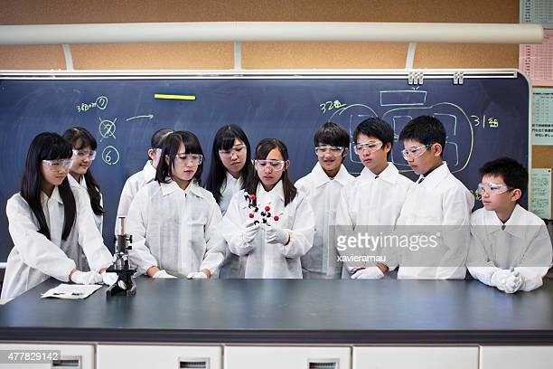 日本の学生を調べるモレキュラーモデルサイエンスのクラス