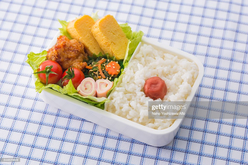 japanese style bento lunch box stock photo getty images. Black Bedroom Furniture Sets. Home Design Ideas