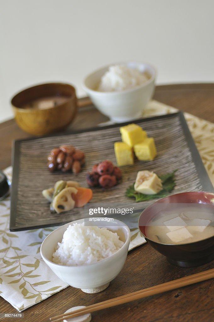 Japanese style dishes : Stock Photo