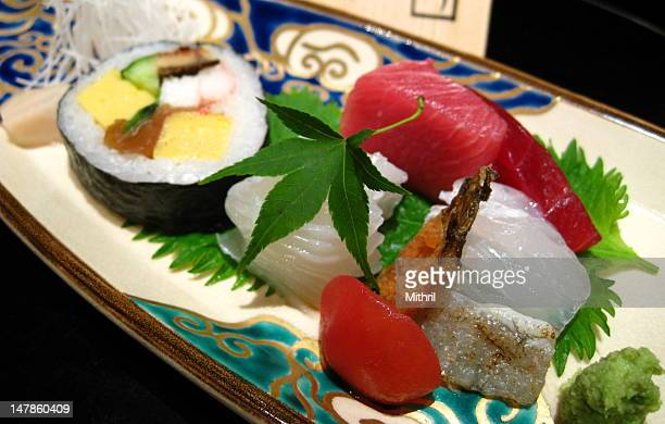 Japanese sushi and sashimi boat