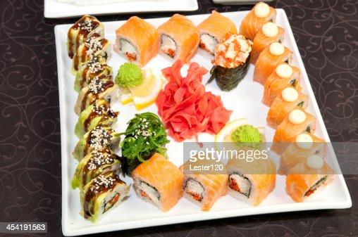 Restaurante de sushi Japonês : Foto de stock