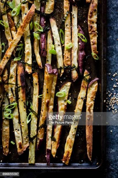 Japanese sweet potato fries and wasabi aioli
