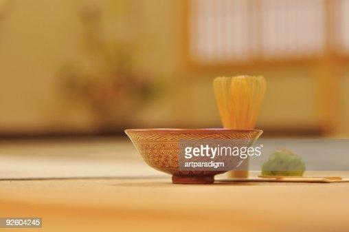 Japanese tea ceremony image,close up : Stock Photo