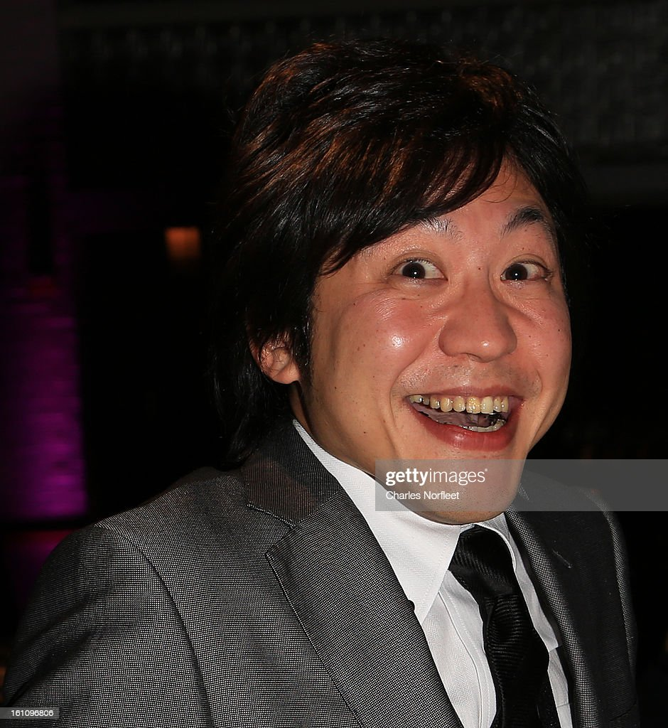 Japanese television director Hiroki Hayashi reacts to winning the Kids; Series Emmy Award for 'Junior High School Diaries: Harmony of Two' during The Inaugural International Emmy Kids Awards at The Lighthouse at Chelsea Piers on February 8, 2013 in New York City.