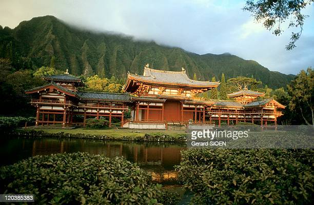 Japanese temple in Hawaii United States ByodoIn temple a copy of japanese temple of Uji