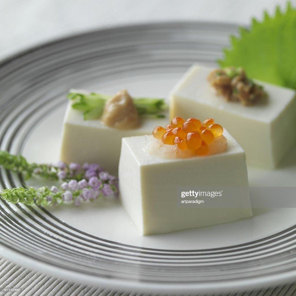 Japanese Tofu dish : Stock Photo