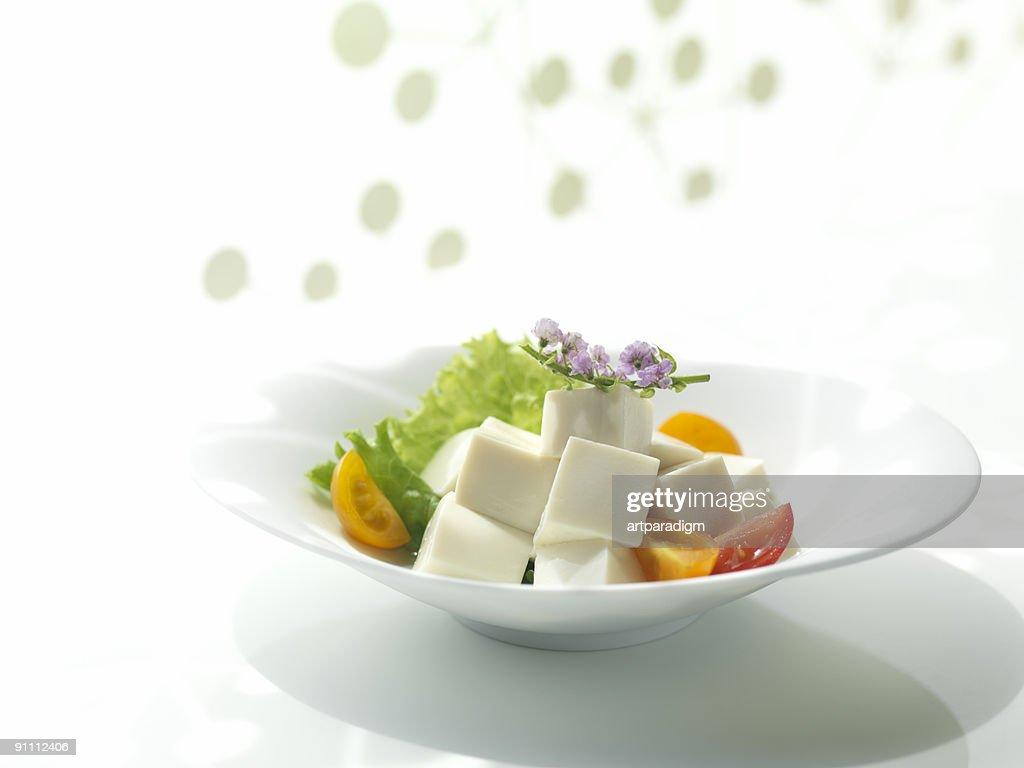 Japanese Tofu salad : Stock Photo