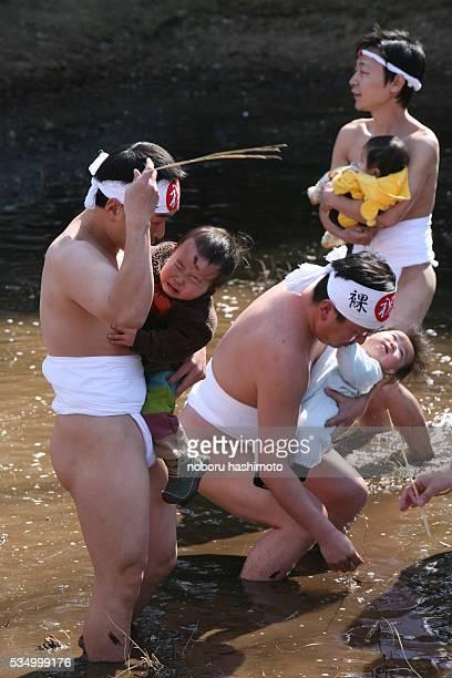 Japanese traditional nakedess festival performed at Mibusubishrine in Yotsukaidoucity eastern JapanThis strange festival performed by good harvest...