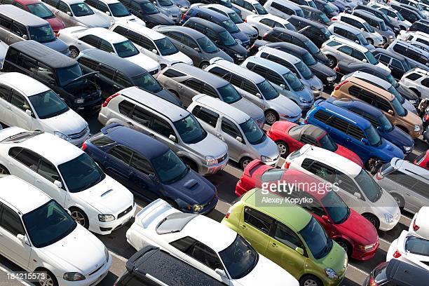 Japanese used car auction lot