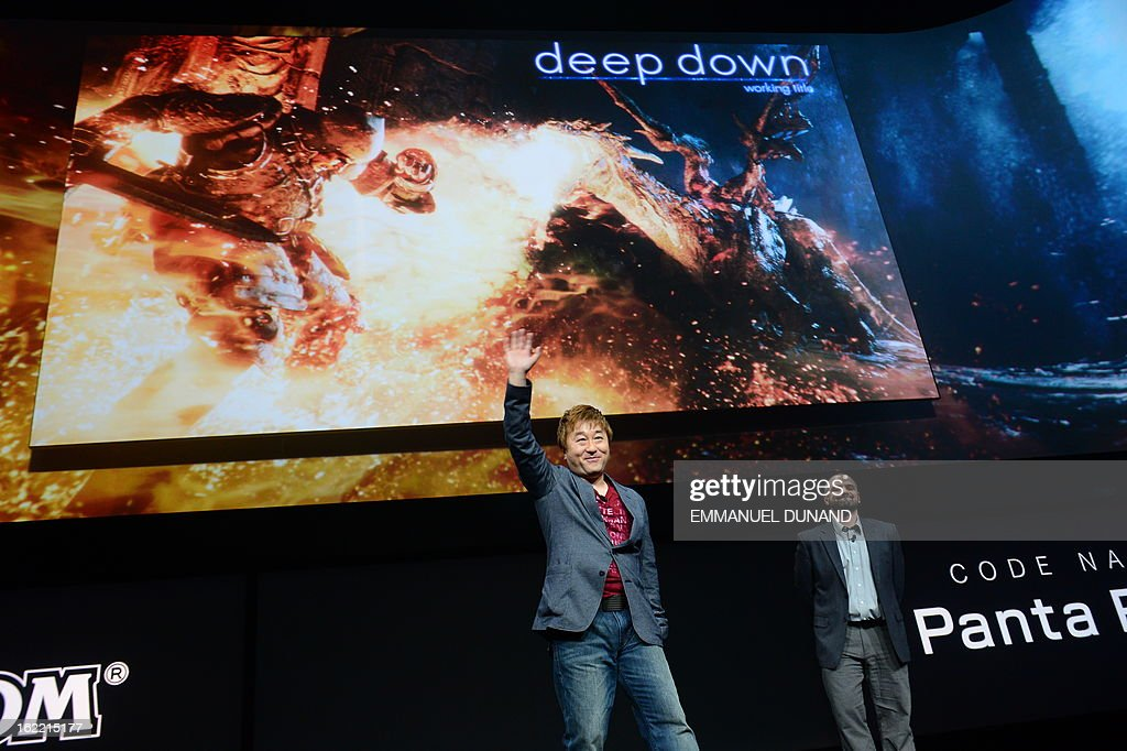Japanese video game producer for Capcom Yoshinori Ono talks as Sony introduces the PlayStation 4 at a news conference February 20, 2013 in New York.