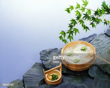 Japanese wheat noodle : Stock Photo