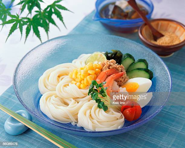 Japanese wheat noodle with vegetables
