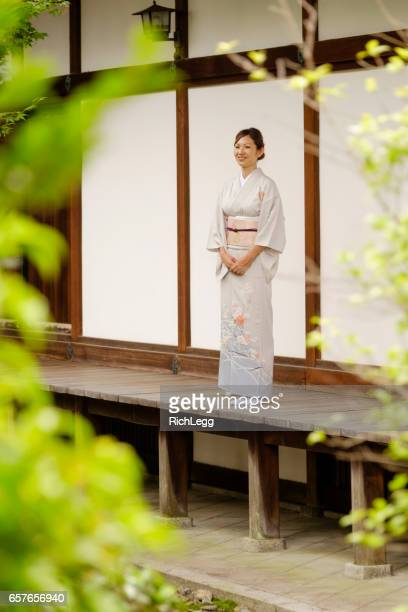 Japanese Woman at the Temple