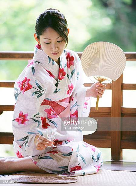 Japanese woman dressed in yukata