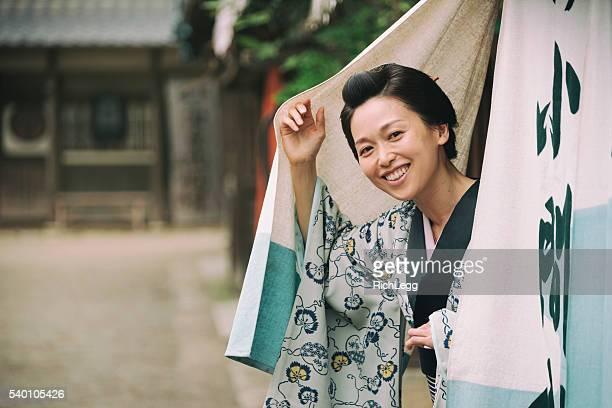 日本の女性、江戸の町