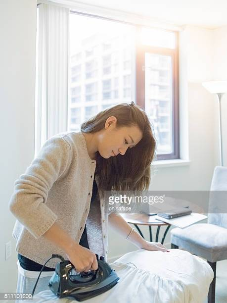 japanese Woman Ironing Clothes