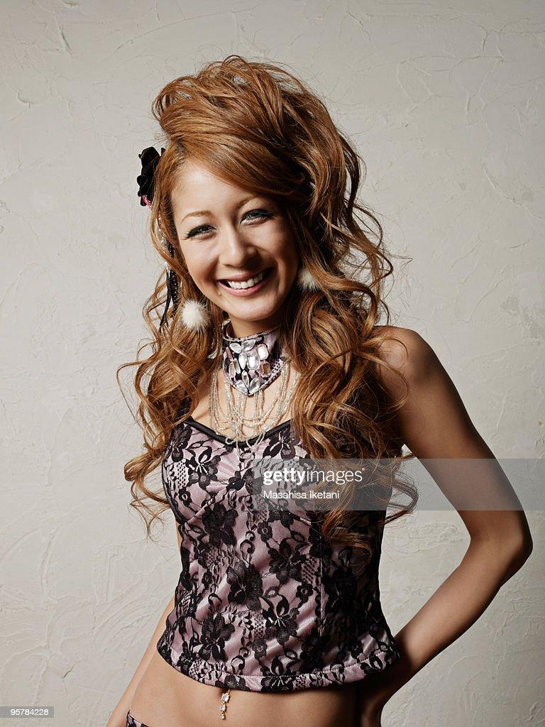 Japanese woman portrait  : Stock Photo