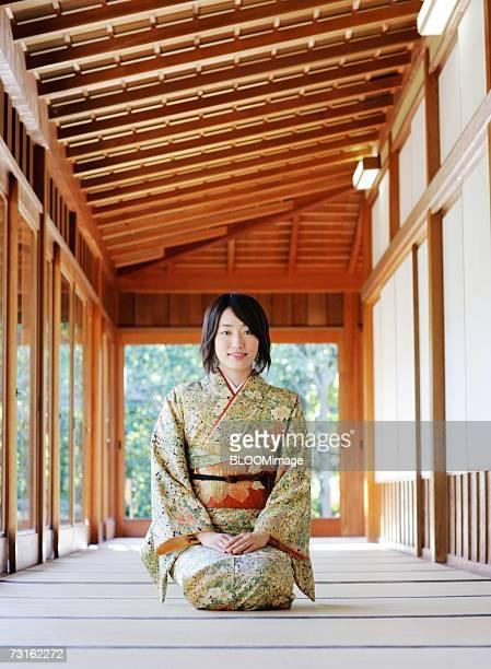 Japanese woman sitting