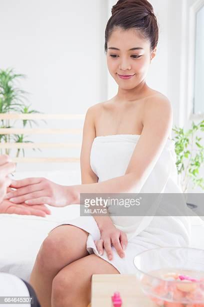 Japanese women get nail care