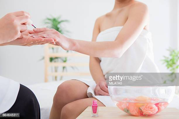 Japanese women get nail care