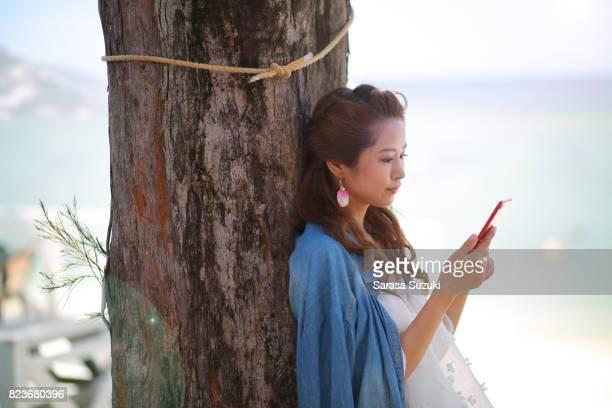 Femmes japonaises dans la mer.