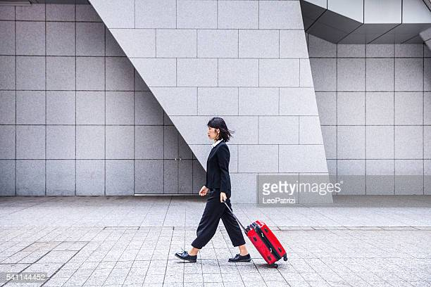 Japanese women on travel in downtown Tokyo