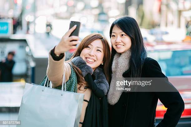 Japanese Women taking Ginza Selfie