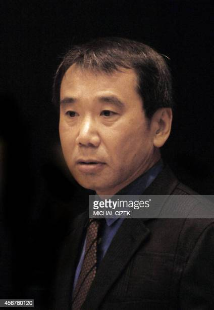 Japanese writer Haruki Murakami appears after receiving the Franz Kafka Award for 2006 30 October 2006 in Prague Murakami has been inspired by the...