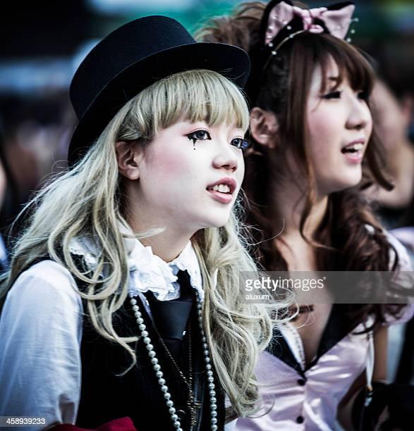 Japanese young fashion in Shibuya Tokyo Japan