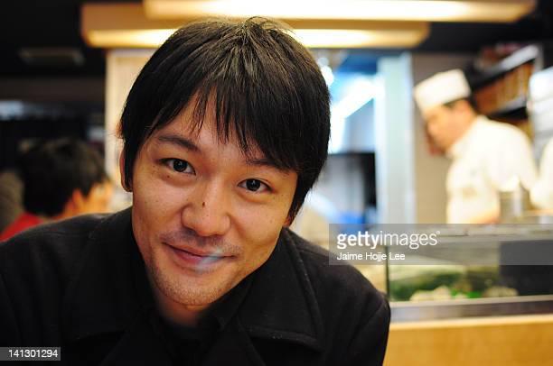 Japanese young man in Tsukiji