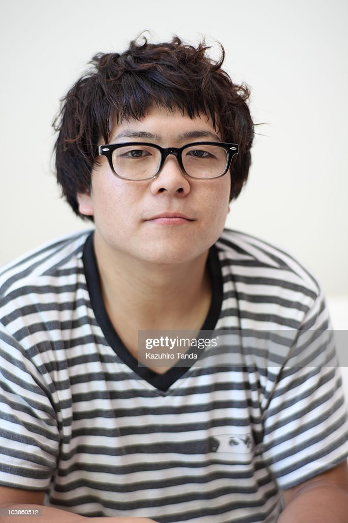 japanese young man portrait : Stock Photo