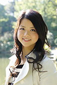 portrait of japanese young woman,