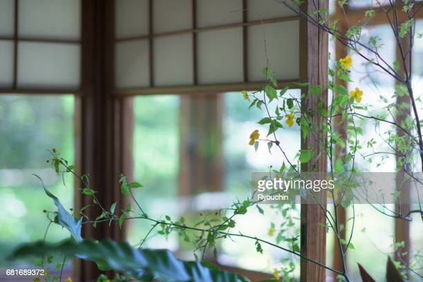 Japanese-style room and Ikebana