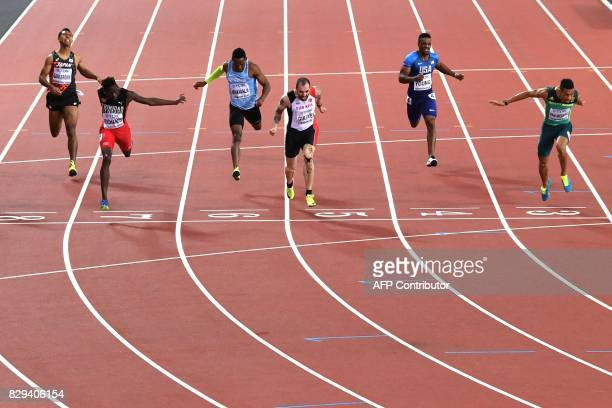 Japan's Abdul Hakim Sani Brown Trinidad and Tobago's Jereem Richards Botswana's Isaac Makwala Turkey's Ramil Guliyev US athlete Isiah Young and South...