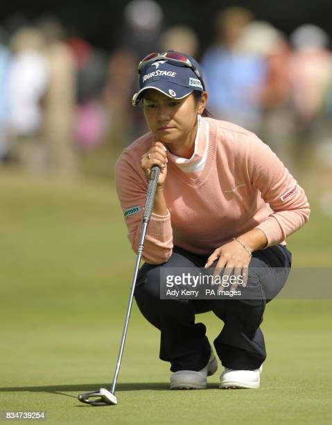 Japan's Ai Miyazato lines up her putt 15th during Round Two of the Ricoh Women's British Open at Sunningdale Golf Club Berkshire