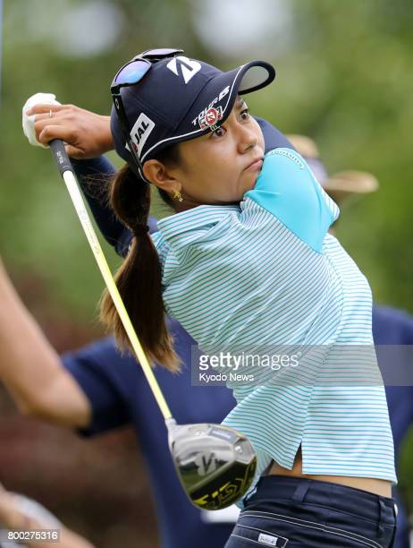 Japan's Ai Miyazato plays in the Walmart NW Arkansas Championship in Rogers Arkansas on June 23 making her return to the US LPGA Tour after a...