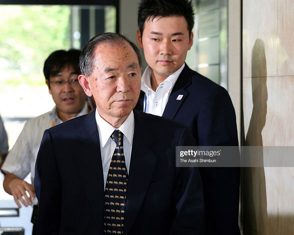 Japan's ambassador to China Uichiro Niwa arrives at the Foreign Ministry on July 15, 2012 in Tokyo, Japan. The government instructed its ambassador to China to 'accurately' convey to Beijing its stance that the disputed Senkaku Islands are Japanese territory and to protest repeated incursions by Chinese vessels into Japanese waters.