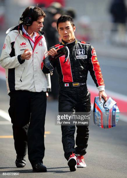 Japan's and Super Aguri driver Takuma Sato at the Catalunya Circuit Barcelona