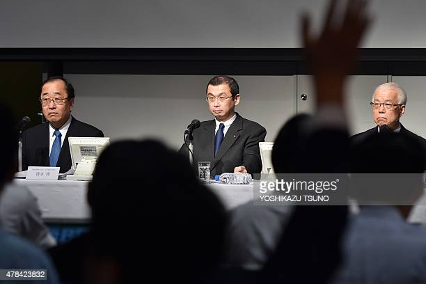 Japan's auto parts maker Takata chairman and president Shigehisa Takata speaks about the global recall of the company's airbags at a press conference...