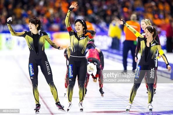 Japan's Ayaka Kikuchi, Miho Takagi and Nana Takagi Kikuchi ...