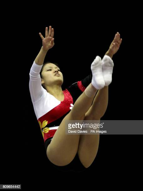 Japan's Ayana Yamada during the Trampoline and Tumbling World Championships at the National Indoor Arena Birmingham