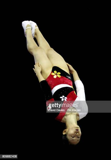 Japan's Ayano Kishi during the Trampoline and Tumbling World Championships at the National Indoor Arena BirminghamPicture date Thursday November 17...