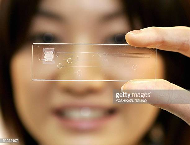 Japan's chemical giant Toray unveils the new plastic made bloodtest chip which enables to diagnosis various diseases with a drop of blood almost...