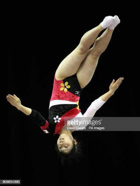 Japan's Chisato Doihata during the Trampoline and Tumbling World Championships at the National Indoor Arena Birmingham