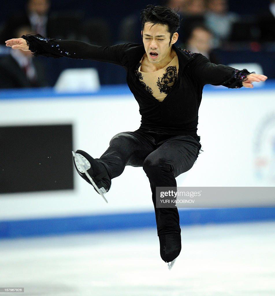 Japan's Daisuke Takahashi performs during his men free skating at the ISU Grand Prix of Figure Skating Final in Sochi on December 8, 2012.