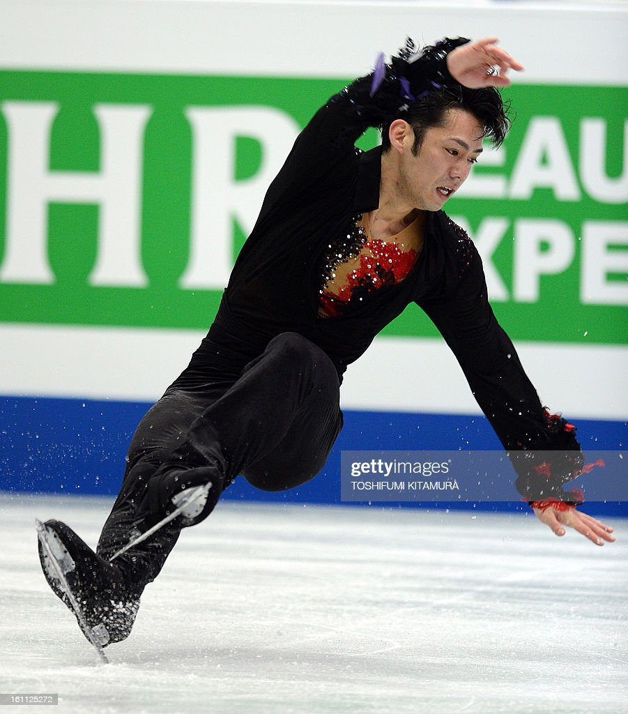 Japan's Daisuke Takahashi performs during the men's 'free skating' event during the Four Continents figure skating championships in Osaka on February 9, 2013.