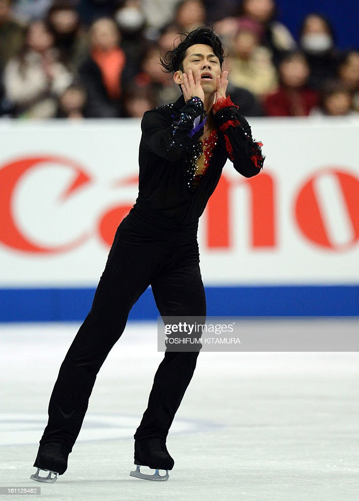Japan's Daisuke Takahashi performs during the men's free skating event during the Four Continents figure skating championships in Osaka on February 9, 2013.
