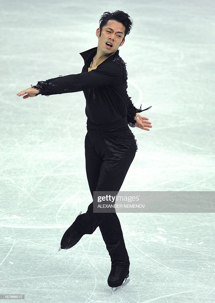 Japan's Daisuke Takahashi performs for the gold medal during men free skating event at the ISU Grand Prix of Figure Skating Final in Sochi on December 8, 2012.